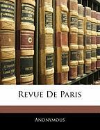 Revue de Paris - Anonymous