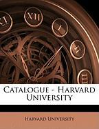Catalogue - Harvard University