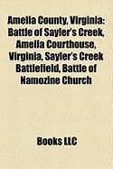 Amelia County, Virginia: Battle of Sayler's Creek, Amelia Courthouse, Virginia, Sayler's Creek Battlefield, Battle of Namozine Church