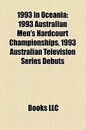 1993 in Oceania: 1993 Australian Men's Hardcourt Championships, 1993 Australian Television Series Debuts