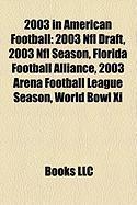 2003 in American Football: 2003 NFL Draft