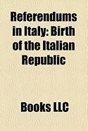 Referendums in Italy: Birth of the Italian Republic