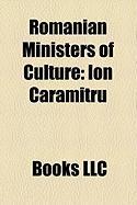 Romanian Ministers of Culture: Ion Caramitru, Andrei Ple U, Hunor Kelemen, R Zvan Theodorescu, Theodor Paleologu, Marin Sorescu