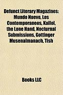 Defunct Literary Magazines: Mundo Nuevo