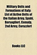 Military Units and Formations of Italy: List of Active Units of the Italian Army