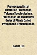 Proteaceae: List of Australian Proteaceae