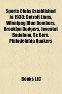 Sports Clubs Established in 1930: Detroit Lions