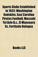 Sports Clubs Established in 1932: Washington Redskins