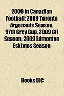 2009 in Canadian Football: 2009 Toronto Argonauts Season