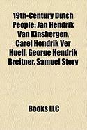 19th-Century Dutch People: Jan Hendrik Van Kinsbergen