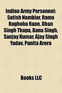 Indian Army Personnel: Satish Nambiar