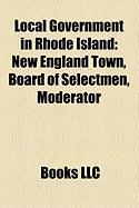 Local Government in Rhode Island: New England Town