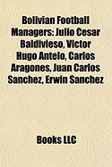 Bolivian Football Managers: Julio Cesar Baldivieso, Victor Hugo Antelo, Carlos Aragones, Juan Carlos Sanchez, Erwin Sanchez
