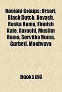 Romani Groups: Ursari, Black Dutch, Boyash, Ruska Roma, Finnish Kale, Garachi, Muslim Roma, Servitka Roma, Gurbeti, Machvaya