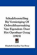 Schadeloosstelling Bij Vernietiging of Onbruikbaarmaking Van Eigendom Door Het Openbaar Gezag (1903) - Van Dorp, Elisabeth Carolina