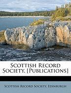 Scottish Record Society. [Publications]