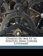 Charles Du Bos Et