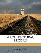 Architectural Record - Anonymous