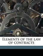 Elements of the Law of Contracts - Harriman, Edward Avery