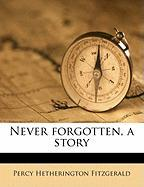 Never Forgotten, a Story - Fitzgerald, Percy Hetherington