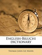 English-Biluchi Dictionary - Mayer, Thomas John Lee