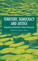 Territory, Democracy and Justice: Regionalism and Federalism in Western Democracies