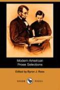 Modern American Prose Selections (Dodo Press)