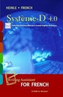 Syst Me-D 4.0 CD-ROM: Writing Assistant for French - Noblitt, James S.