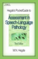 Hegde's Pocketguide to Assessment in Speech-Language Pathology - Hegde, M. N.; Hedge, M. N.