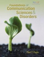 Foundations of Communication Sciences & Disorders - Fogle, Paul T.