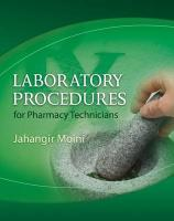 Laboratory Procedures for Pharmacy Technicians - Moini, Jahangir