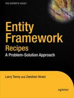 Entity Framework 4.0 Recipes: A Problem-Solution Approach - Tenny, Larry; Hirani, Zeeshan