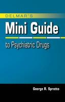 Delmar's Mini Guide to Psychiatric Drugs - Spratto, George R.