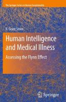 Human Intelligence and Medical Illness: Assessing the Flynn Effect - Steen, R. Grant