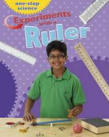 Experiments with a Ruler. by Angela Royston - Royston, Angela