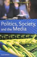 Politics, Society, and the Media - Nesbitt-Larking, Paul