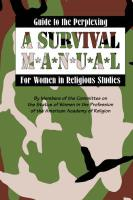 Guide to the Perplexing: A Survival Manual for Women in Religious Studies - Members of the Committee on the Status O; Members of the Committee on the Status o