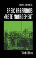 Basic Hazardous Waste Management, Third Edition - Blackman, William C. , JR.; Blackman, Jr.