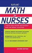 Math for Nurses: A Pocket Skill-Builder and Reference Guide for Dosage Calculation - Stassi, Mary E.; Tiemann, Margaret; Kaplan