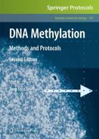 DNA Methylation: Methods and Protocols