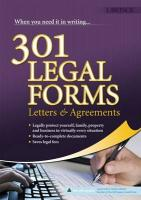 301 Legal Forms, Letters and Agreements - Schmitz, David