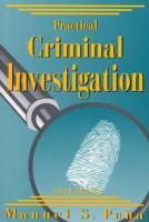 Practical Criminal Investigation - Pena, Manuel S.