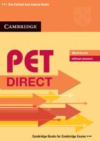 PET Direct. Workbook without answers