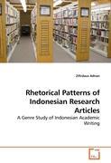 Rhetorical Patterns of Indonesian Research Articles - Adnan, Zifirdaus