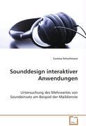 Sounddesign interaktiver Anwendungen - Schuchmann Corinna