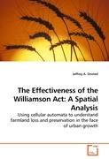 The Effectiveness of the Williamson Act: A Spatial Analysis - Onsted, Jeffrey A.