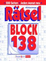 Rätselblock 138 - Krüger, Eberhard