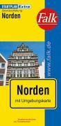 Falk Stadtplan Extra Norden mit Umgebungskarte.
