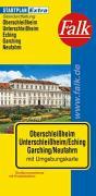 Falk Stadtplan Extra Oberschleißheim, Unterschleißheim, Eching, Garching, Neufahrn.