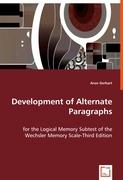 Development of Alternate Paragraphs - Gerhart, Aron